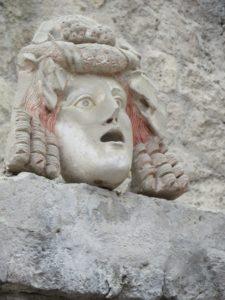 Maske in Herkulaneum