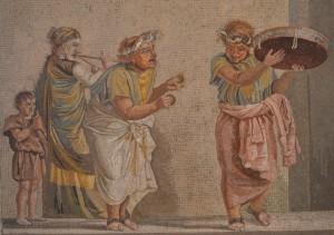 Feines Mosaik aus dem Museo Nazionale von Neapel