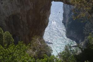 Aussicht durch den Arco Naturale