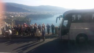 Bus an der sorrentiner Halbinsel