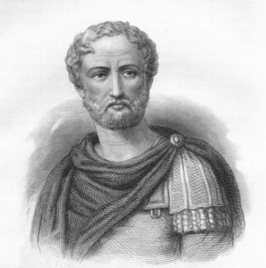 Plinius, roemischer Admiral und beruehmter Schriftsteller
